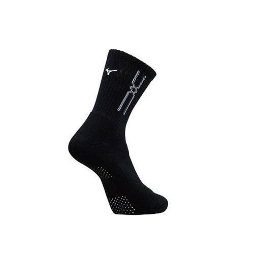 (AX) 美津濃MIZUNO 男款運動厚底襪 1組2雙 - 32TX90G991Q(黑x白)