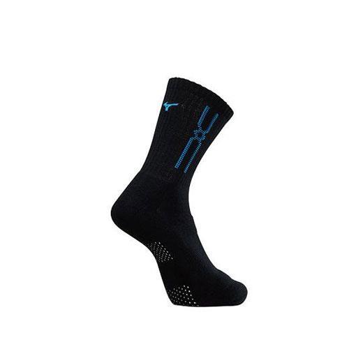 (AX) 美津濃MIZUNO 男款運動厚底襪 1組2雙 - 32TX90G992Q(黑x藍)