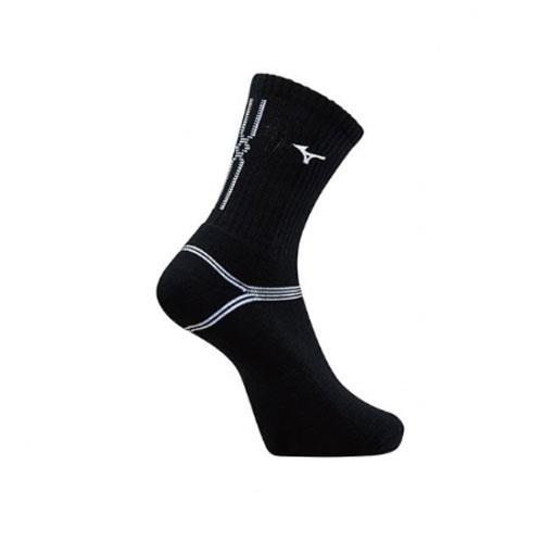 (AX) 美津濃MIZUNO 男款運動厚底襪 1組2雙 - 32TX90G791Q(黑x白)