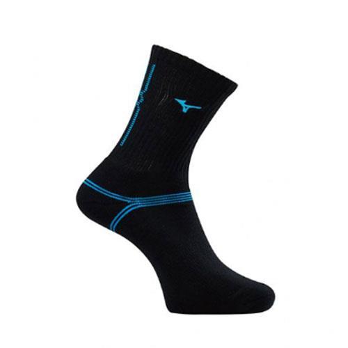 (AX) 美津濃MIZUNO 男款運動厚底襪 1組2雙 - 32TX90G792Q(黑x藍)