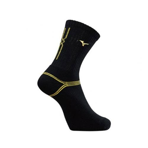(AX) 美津濃MIZUNO 男款運動厚底襪 1組2雙 - 32TX90G794Q(黑x黃)