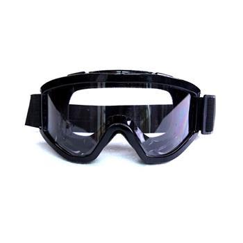 黑色橡膠防風護目鏡(防噴濺防唾沫防沙粒/可內戴眼鏡)-1入