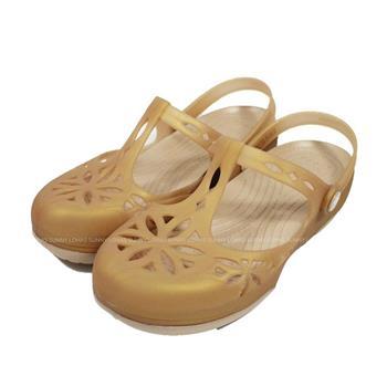(B5) CROCS 卡駱馳 女鞋 伊莎貝拉克駱格 涼拖鞋 水鞋 雨鞋 204939-277 金
