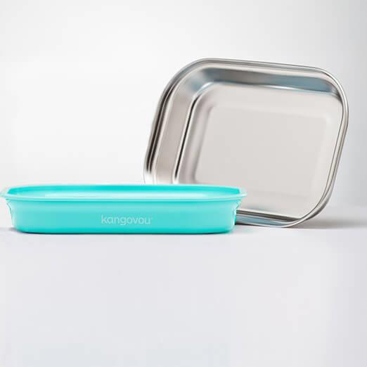 Kangovou小袋鼠不鏽鋼安全平板餐盤-薄荷綠
