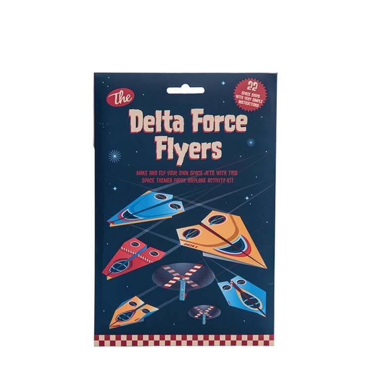 英國Clockwork Solider發條小士兵手作玩具--星際戰機紙飛機組