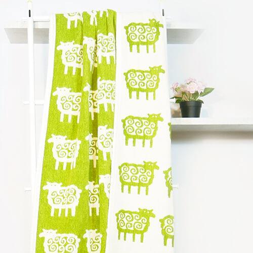 瑞典Klippan Q毛小綿羊有機棉毯--綠色