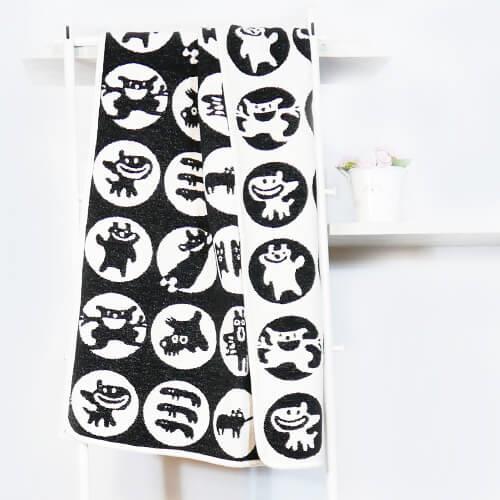瑞典Klippan有機棉毯--調皮小怪物 (黑色)