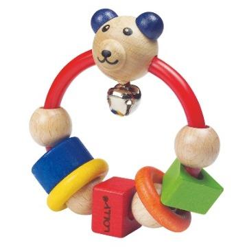 LOLLY木製玩具-微笑熊搖鈴