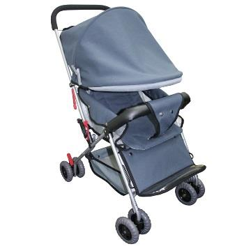 優生全罩式抗UV嬰幼兒推車889-灰