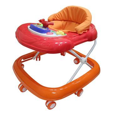優生汽車音樂嬰幼兒學步車-橘