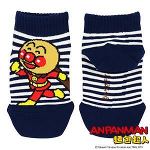 麵包超人條紋童襪-藍