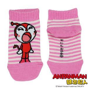 紅精靈條紋童襪