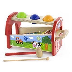 幼兒啟發敲敲球小木琴