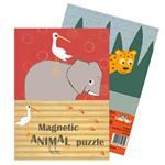【Babytiger虎兒寶】 比利時 Egmont Toys 艾格蒙繪本風口袋遊戲磁鐵書 -動物拼圖