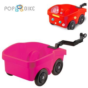 【虎兒寶】POPBIKE 兒童平衡滑步車專用配件 拖車 - 粉紅色