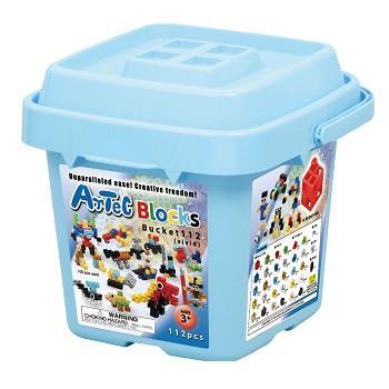 ARTEC 收納積木桶112塊