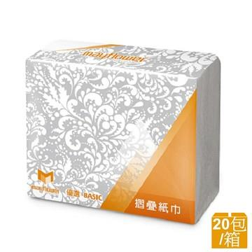 五月花  MFP摺疊紙巾(200張x20包/箱)