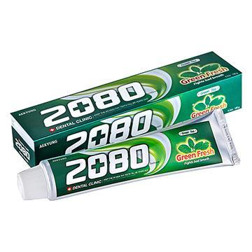 【韓國2080】綠茶清新護齦牙膏(120gX2入)