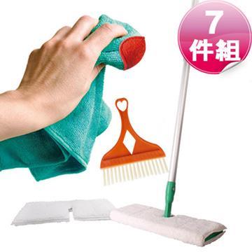 JoyLife 一拖淨雙面拖把年終大掃除特惠七件組