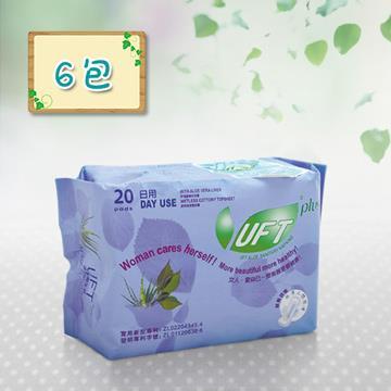 【芫茂UFT】天然蘆薈草本精華衛生棉日用6件組
