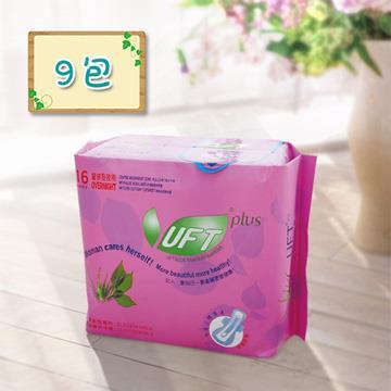 【芫茂UFT】天然蘆薈草本精華衛生棉夜用9包組