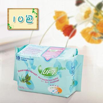【芫茂UFT】天然蘆薈草本精華衛生護墊10包組