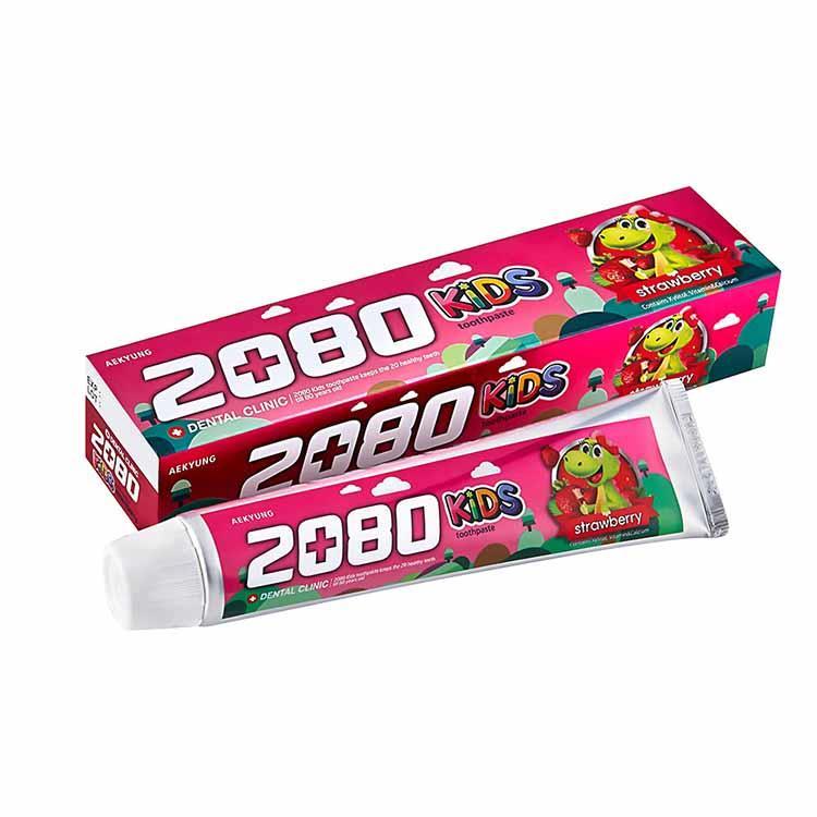 【韓國2080】強齒健齦兒童牙膏-草莓(80gX3入)