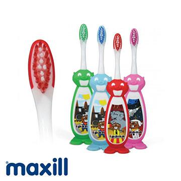 【加拿大美適Maxill】iPana兒童牙刷-立體巴基海狸造型(4入)