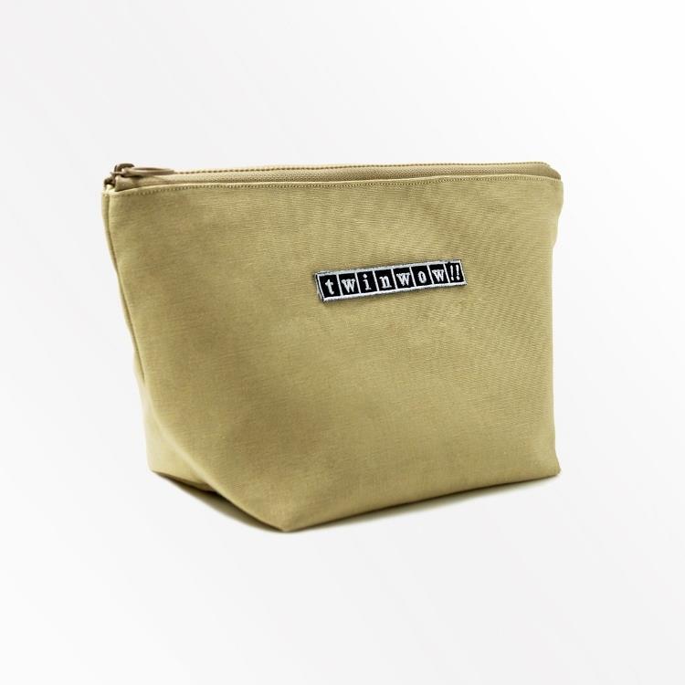 twinwow - 貼心時尚 - 細緻質感化妝包 - 卡其褐