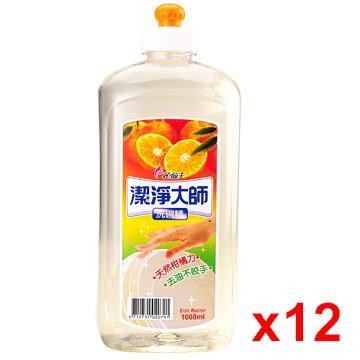 花仙子 潔淨大師洗碗精(1000ml) x12/組