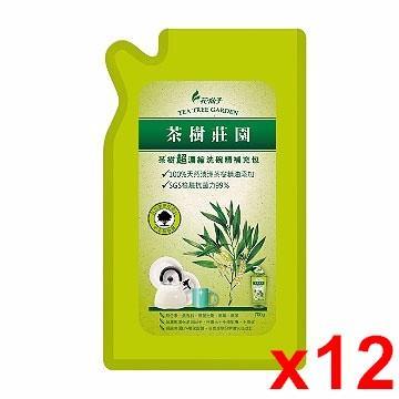 花仙子 茶樹超濃縮洗碗精補充包 (700g) x12組