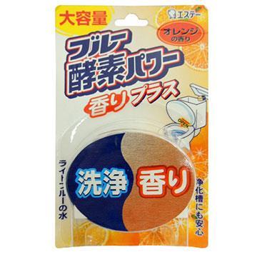 日本進口 馬桶自動清潔橘子酵素芳香錠消臭劑LI-115426