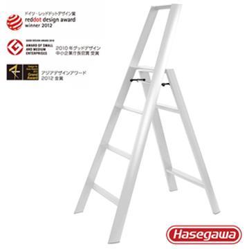 【長谷川Hasegawa設計好梯Lucano設計傢俱梯】4階108cm白色(ML系列ML-4WH)