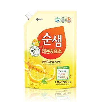 【韓國愛敬AK】全植物檸檬酵素洗潔液 1.3kg