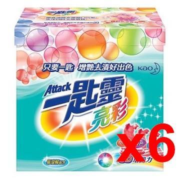 一匙靈 亮彩超濃縮洗衣粉 1.9Kg(x6盒)