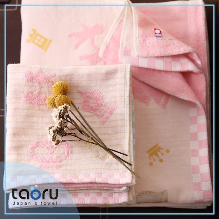 taoru【日本今治毛巾/ 浴巾】棋仕物語_粉紅