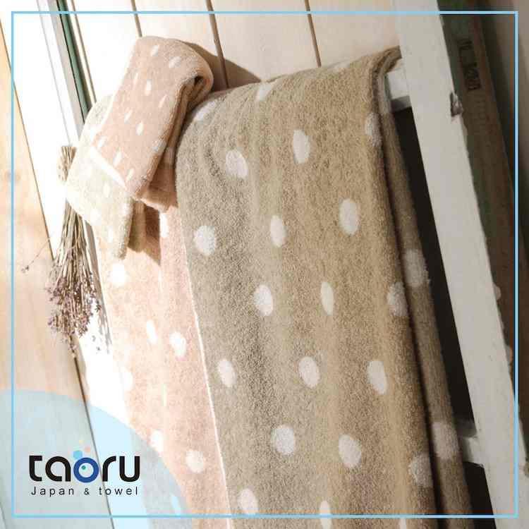 taoru【日本今治毛巾/ 浴巾】圓點點_青色