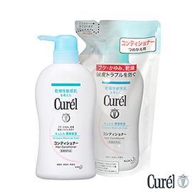 珂潤 Curel 溫和滋養潤髮乳420ml+補充包360ml