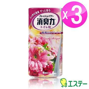 ST雞仔牌 浴廁消臭力-幸福花朵香400ml 3入組ST-120406