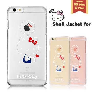 Hello Kitty iPhone6/6s Plus 透明手機殼(硬)。蝴蝶結