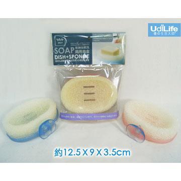 收納刷洗兩用皂盒-4入