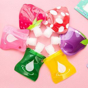 水果水滴系列旅行專用乳液分裝塑膠按壓瓶/分裝袋(隨機出貨)