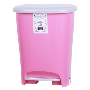 和菓子18L踏式垃圾桶-大-粉