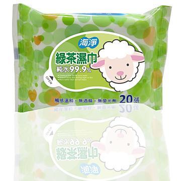 【海淨】綠茶濕巾20張-6入