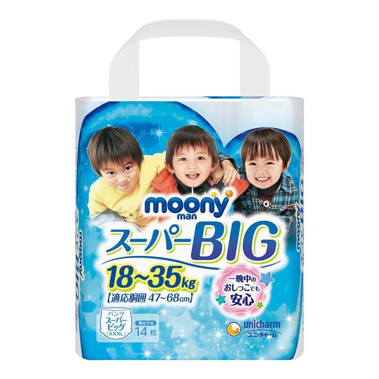 【滿意寶寶】日本頂級超薄褲型男用(XXXL)(14片X 6包/箱購)