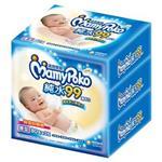 【滿意寶寶】天生柔嫩溫和純水厚型溼巾-補充包(80入x3包/組)