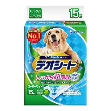 日本Unicharm 消臭大師 超吸收狗尿墊(4L)(15片)