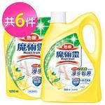 魔術靈 地板清潔劑-鮮採檸檬1+5件組 (瓶裝2000ml+補充包1800mlx5)