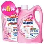 魔術靈 地板清潔劑-水漾玫瑰1+5件組 (瓶裝2000ml+補充包1800mlx5)