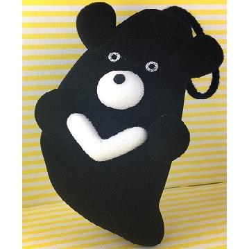 台灣黑熊立體造型沐浴海綿